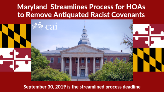 Maryland Streamlines Process for HOAs to Remove Antiquated Racist Covenants