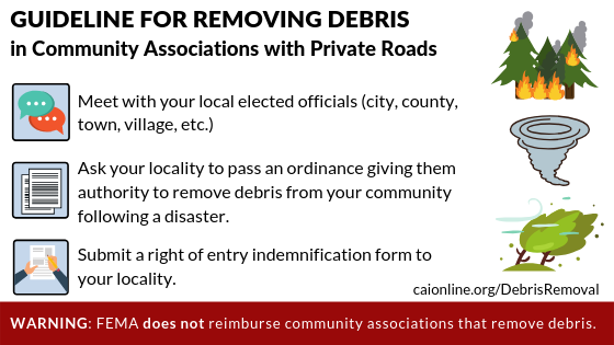 Guidelines for Removing Debris in Community Associations with Private Roads