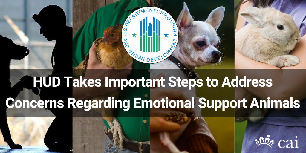 HUD Takes Important Steps to Address Concerns Regarding Emotional Support Animals