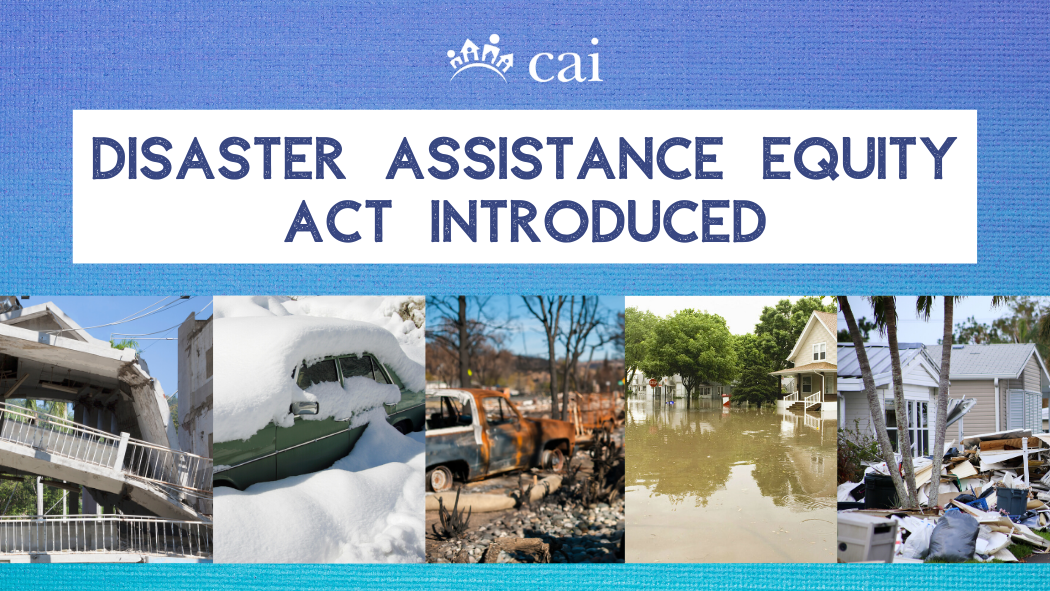 Disaster Assistance Equity Act Introduced