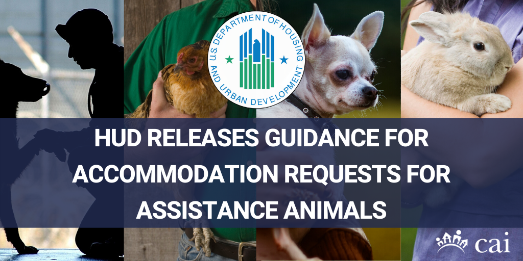 HUD Releases Guidance for Accommodation Requests for Assistance Animals