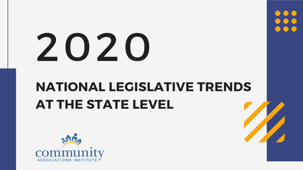 2020 National Legislative Trends at the State Level