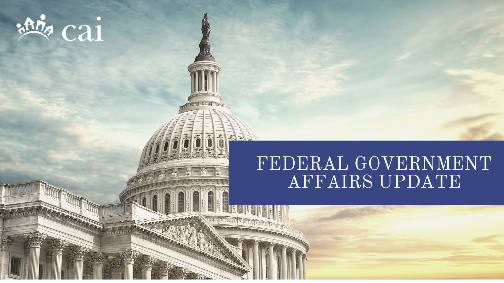 Federal Government Affairs Update