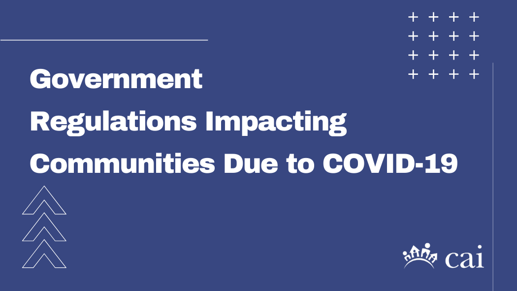 Government Regulations Impacting Communities Due to COVID-19