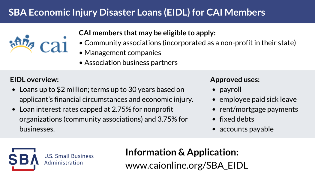 A Guide to Small Business Administration Economic Injury Disaster Loans