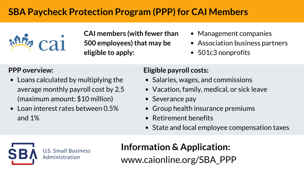 CAI's Guide to the SBA Paycheck Protection Program (PPP)