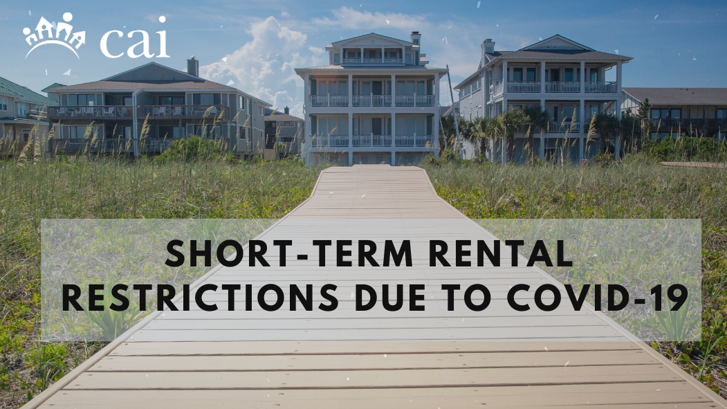 Short-term Rental Restrictions Due to COVID-19