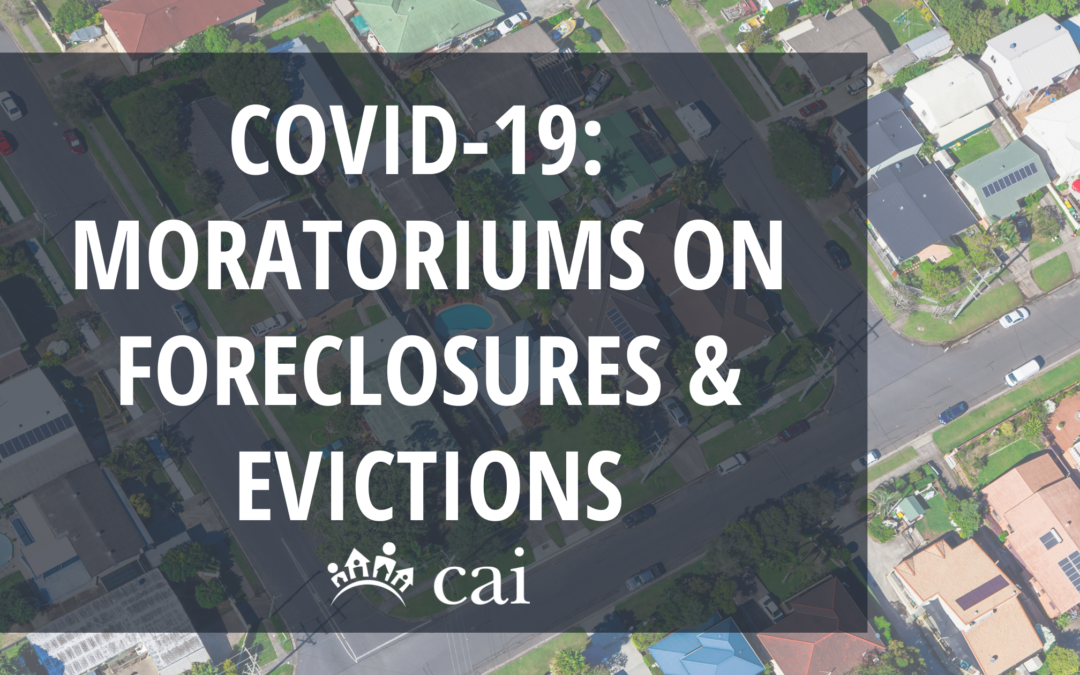 COVID-19:  Moratoriums on Foreclosures and Evictions