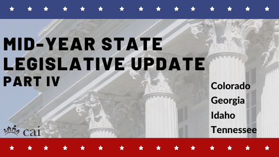 Mid-Year State Legislative Action Committee Update: Part IV