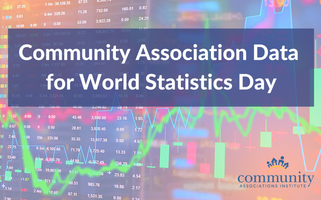 Community Association Data for World Statistics Day