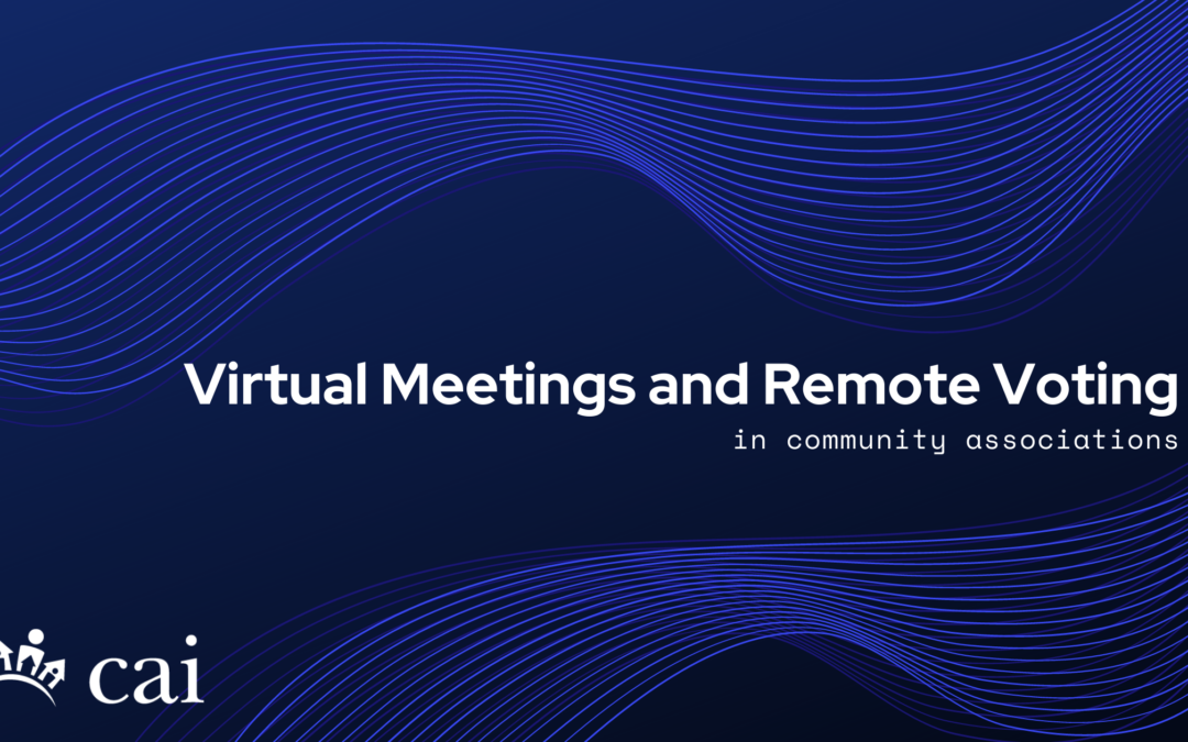 Virtual Meetings and Remote Voting
