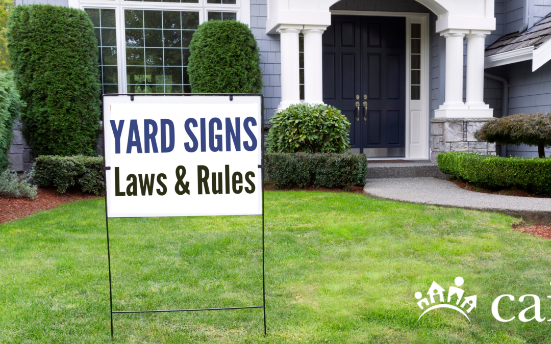 Political Signs in Your Community: Know the Law and Your Documents