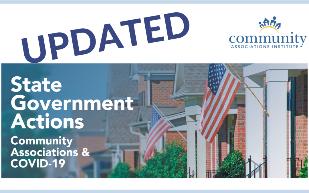 Updates to State Government Actions Taken due to COVID-19