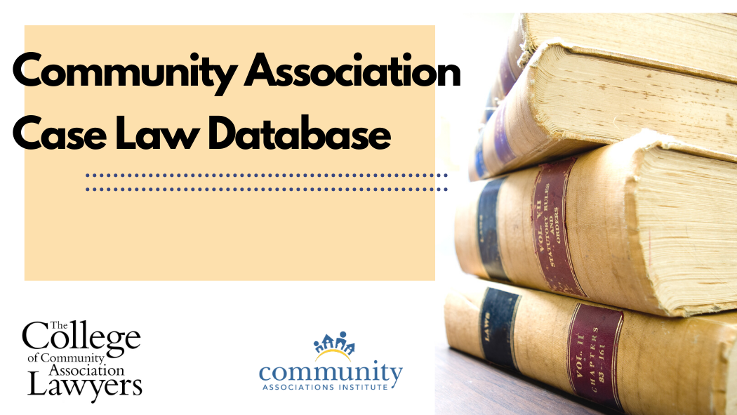 CAI's 2021 Case Law Update and Database