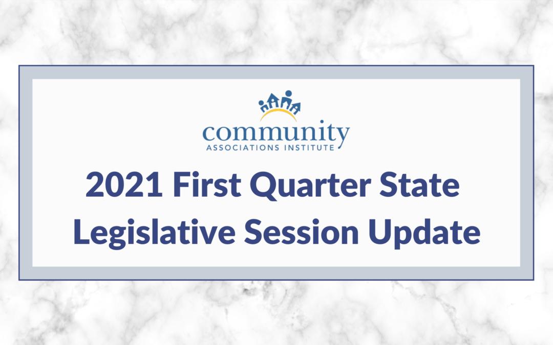 2021 First Quarter State Legislative Session Update