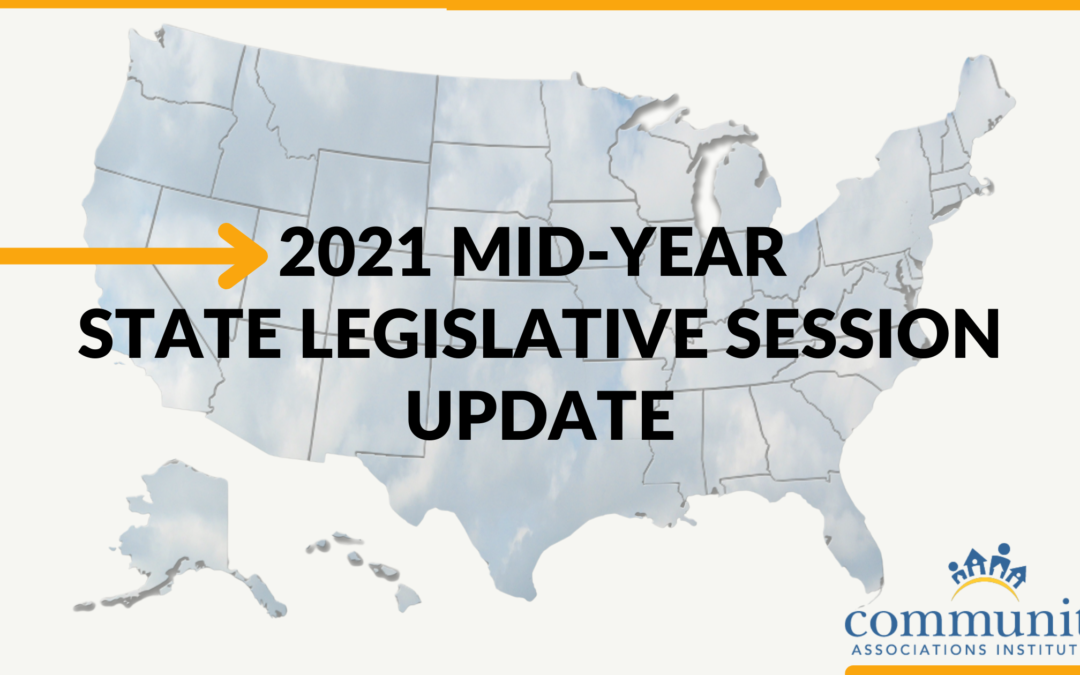 2021 Mid-Year State Legislative Session Update