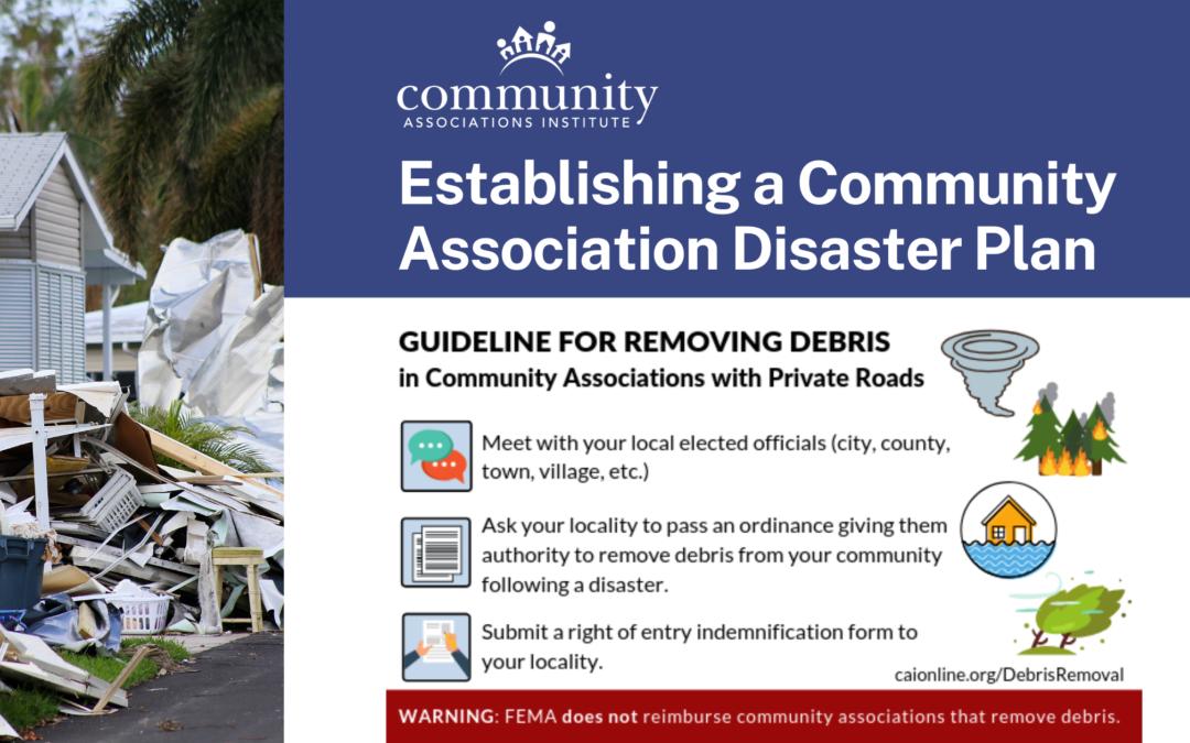 Establishing a Community Association Disaster Plan