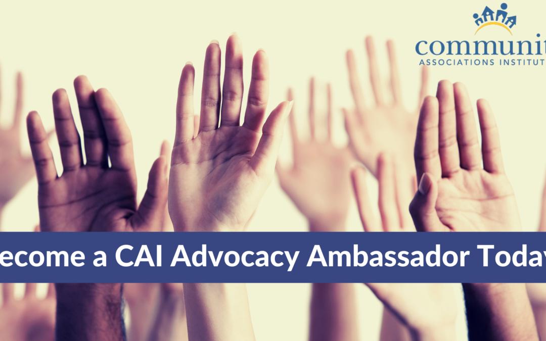 Become a CAI Advocacy Ambassador Today!