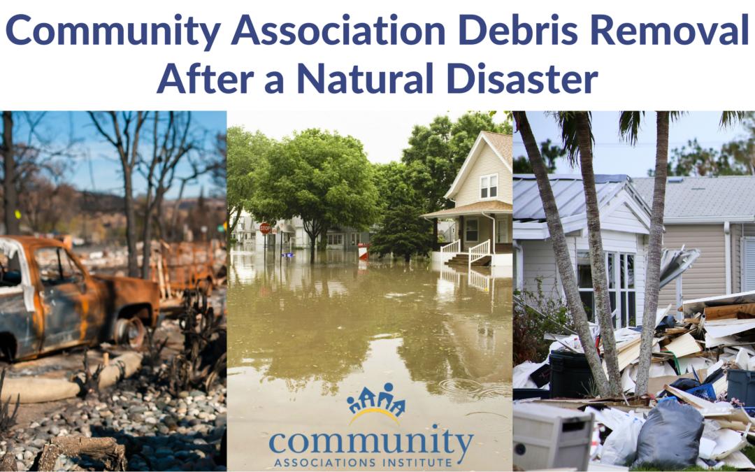 Community Association Debris Removal After a Natural Disaster
