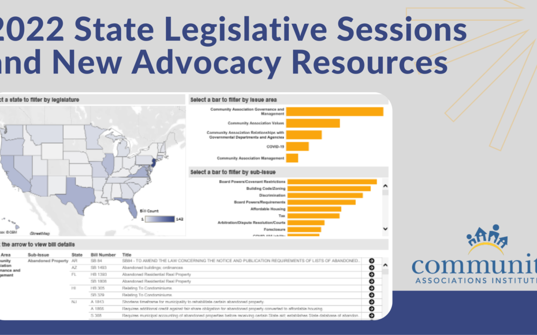 2022 State Legislative Sessions and New Advocacy Resources